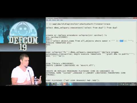 DEF CON 19 - David Litchfield - Hacking and Forensicating an Oracle Database Server