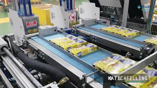 Video: Encajado Wrap around automática // Automatic Wrap Around case packer machine