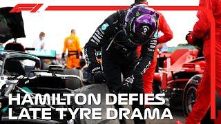 Hamilton Wins Despite Dramatic Late Tyre Issue | 2020 British Grand Prix
