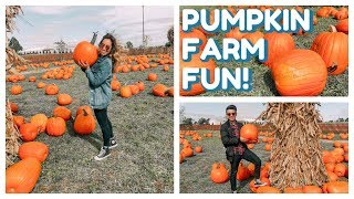 A Day At The Pumpkin Farm! || BRUNETTE FRECKLE