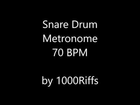 Snare Drum Metronome 70 BPM