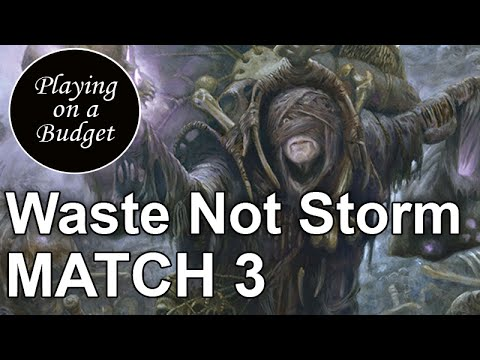 MTG Modern: Waste Not Storm vs Abzan Sisters - Playing on a