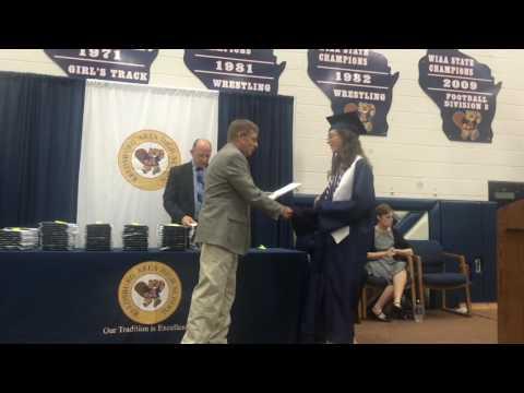 Presentation of diplomas at Reedsburg Area High School Graduation