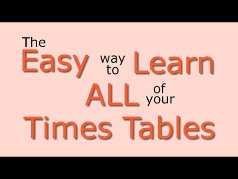 Times Tables Easy Way To Learn All The