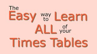 Times Tables Easy Way Learn All Times Tables