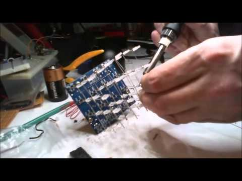 Building a 3D LED Cube Red Blue Ray DIY Kit Part 4 of 4 (Fail)