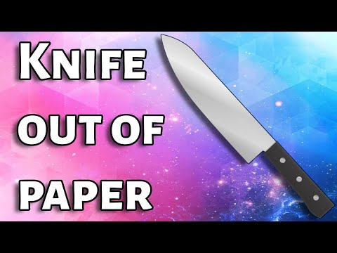 How to Make Knife with Paper - Things Made Out of Paper Easy at Home