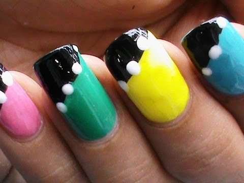 NO TOOLS !! - Easy Nail Art Designs For Beginners Without Tools ...