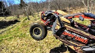 Conquering The Pit in a Can Am Maverick X3 Turbo HILL CLIMB