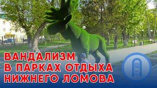 Вандализм в парках отдыха Нижнего Ломова