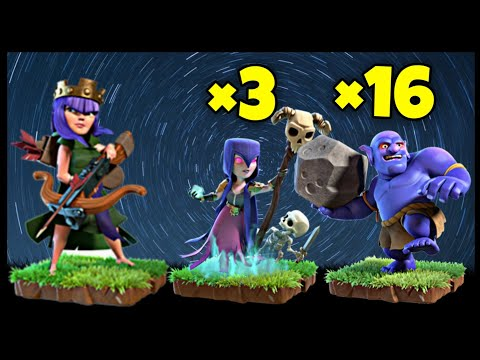 TH10 Queen Walk GoWiBo (Golem + Witch + Bowler) War Attack Strategy | Clash of Clans