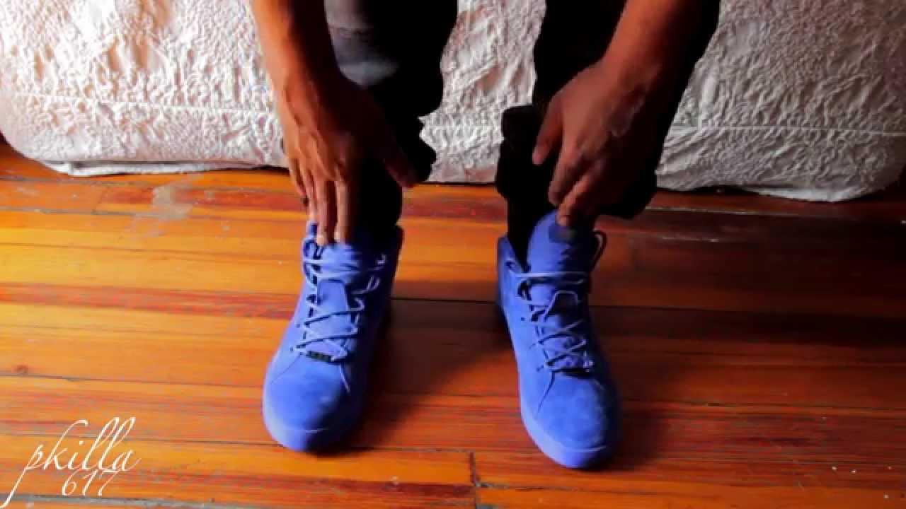 lebron 12 Lifestyle on feet! all blue sneaker! fireeeee!! - YouTube 70719b6163