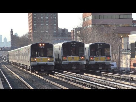 LIRR HD 60fps: Two Hours of Main Line Action @ Forest Hills During Evening Rush Hour (3/9/17)