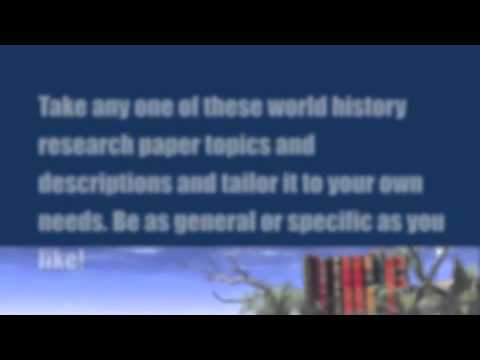 Paper Masters - World History Research Papers