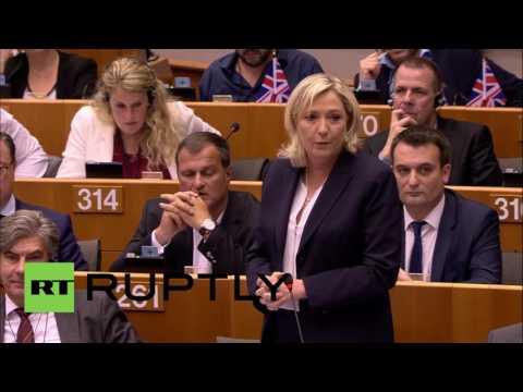 Belgium: Le Pen lauds Brexit as