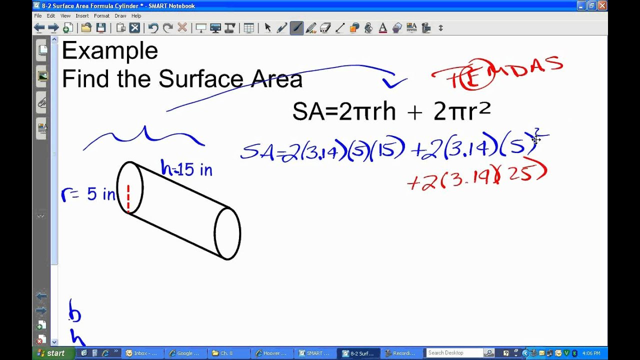 Lesson on finding the surface area of a cylinder youtube lesson on finding the surface area of a cylinder ccuart Gallery