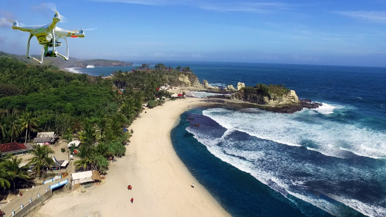 Pantai Klayar Pacitan - Drone Video - Best Traveling to Klayar Beach