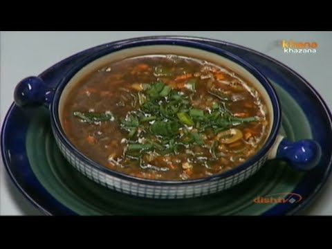 Hot & Sour Vegetable Soup - Sanjeev Kapoor - Khana Khazana
