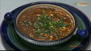 Hot & Sour Vegetable Soup - Sanjeev Kapoor - Khana Khazana