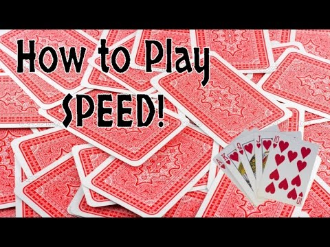 How To Play Speed Card Game Youtube