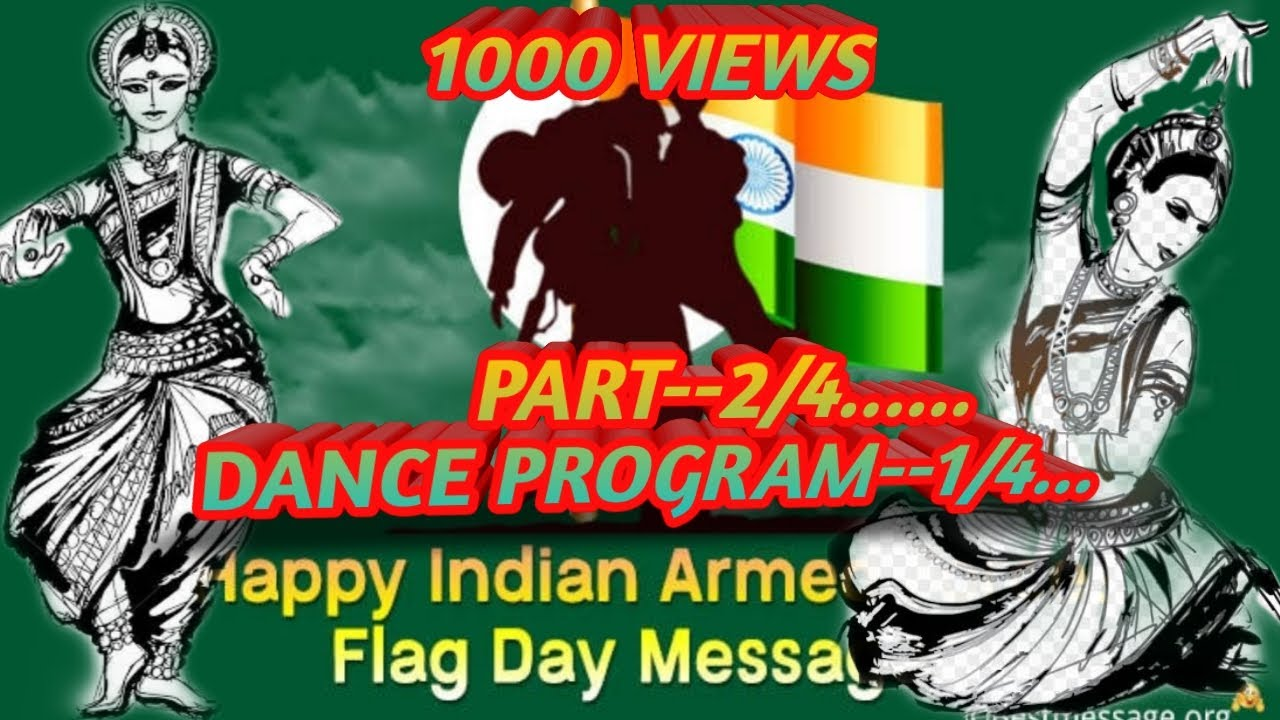 armed forces Flag Day program & musical program in kandi, West Bengal. Part -2/4 &1/4...