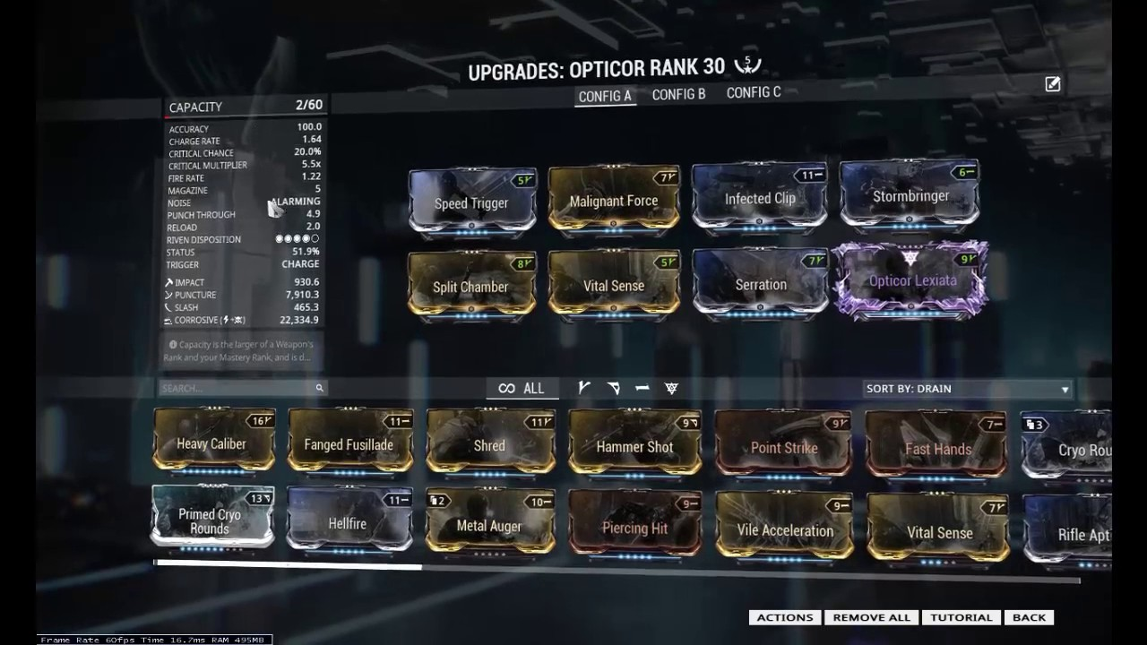 Warframe Opticor Build For Eidolon