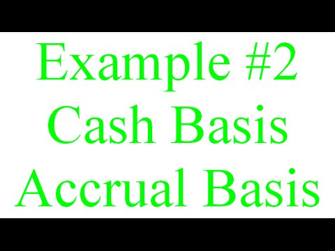 105 example 2 for cash basis and accrual basis accounting youtube