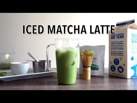 ICED MATCHA LATTE RECIPE | Gloria Sky