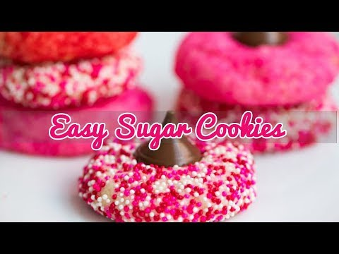 Easy sugar cookies for Valentine's Day