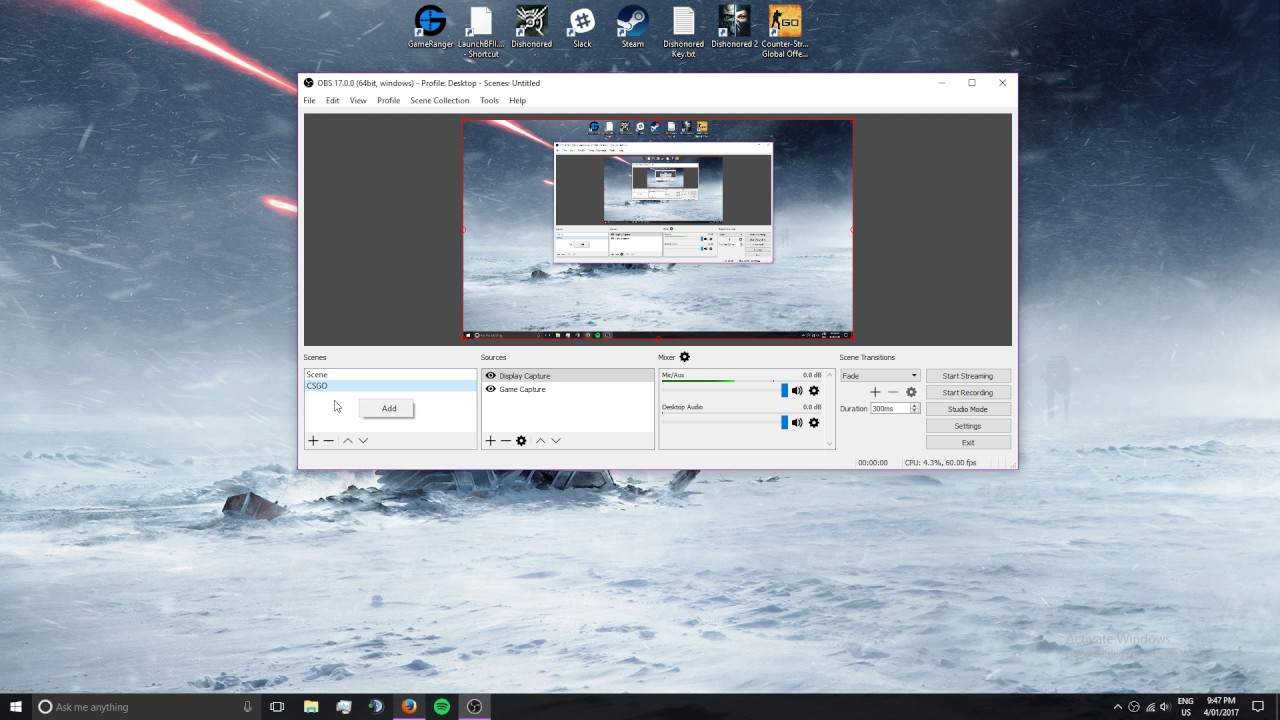 How to Stream/Record CSGO in OBS Studio 4:3 Stretched