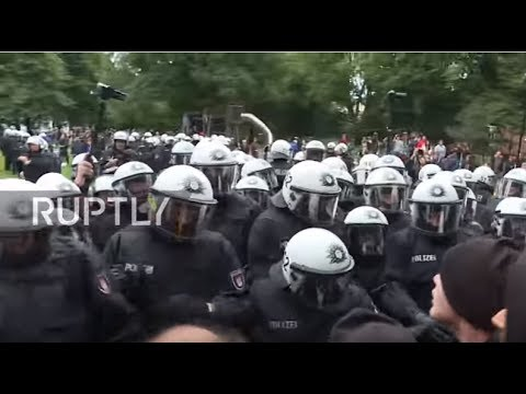 Germany: Protesters teargassed as police evict anti-G-20 camp in Hamburg