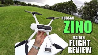 Hubsan ZINO Maiden Flight Test Review - [Altitude Limit, CRASHING!, Pros & Cons]