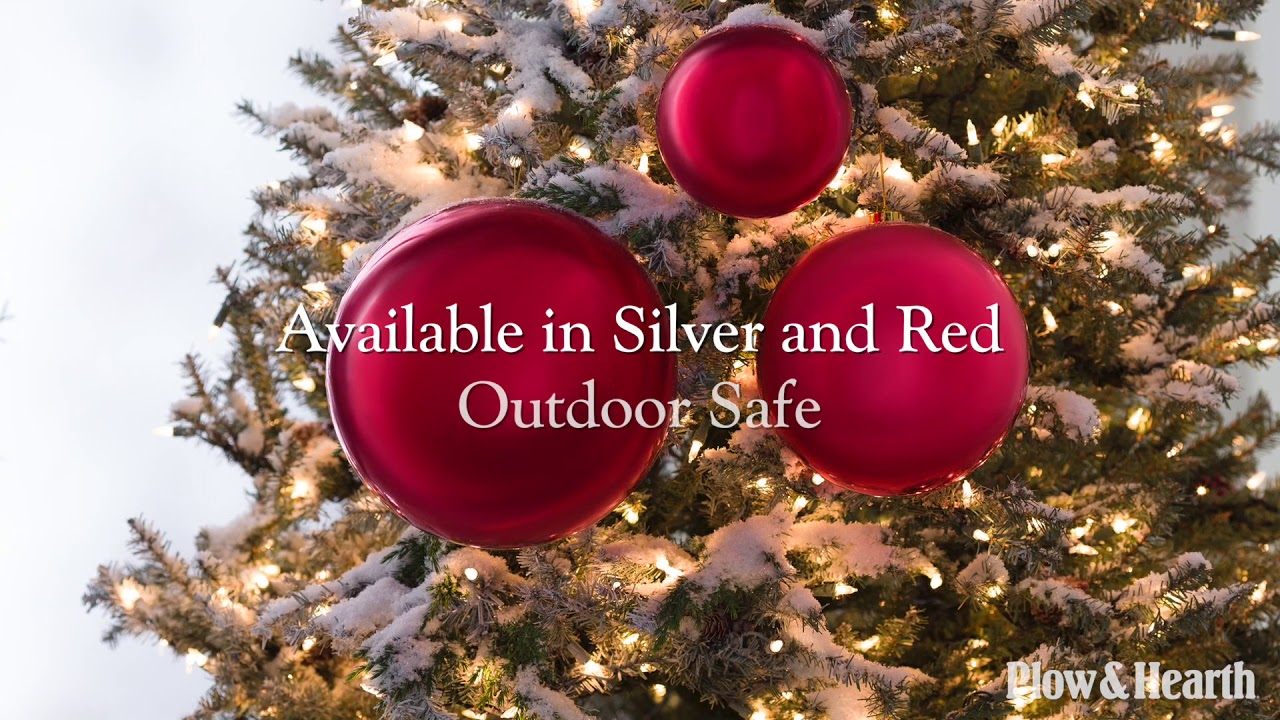 oversized shatterproof christmas ball ornaments set of 3 sku 65d28 plow hearth