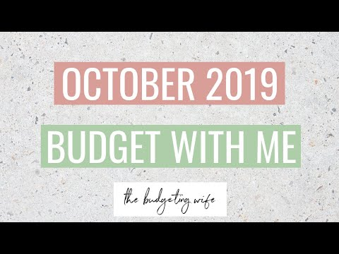 OCTOBER 2019 BUDGET WITH ME | zero-based budget