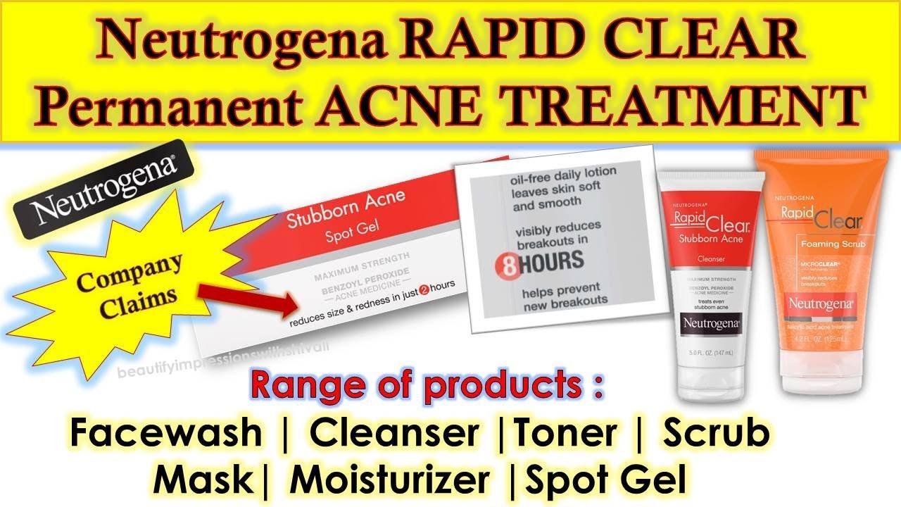Best Neutrogena Permanent Acne Treatment Rapid Clear Range