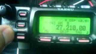 Yaesu FT-857d na CB 27.180MHz  AM DSP test