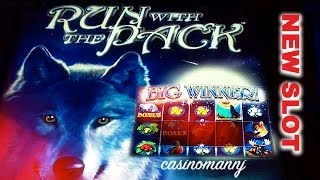 *NEW SLOT* - Run with the Pack - Slot Machine Bonus