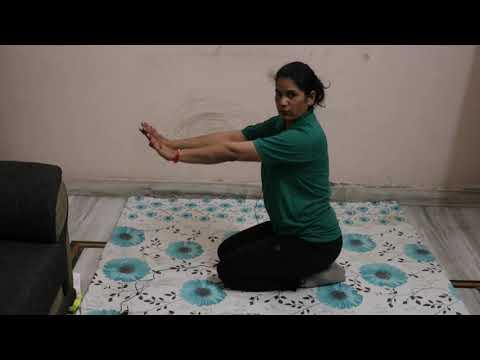 stretching ardha matsyasana mandukasana and kapalbhati