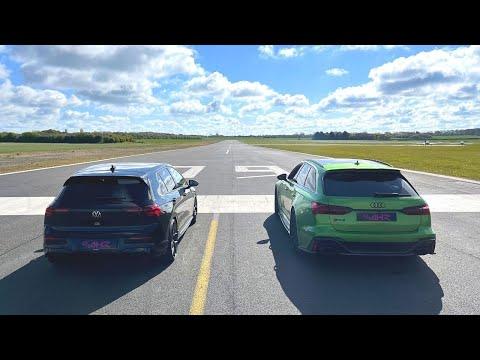 DRAG RACE! 2021 VW GOLF R VS AUDI RS6 AVANT!