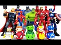 Avengers Transformation! Thor, Red Hulk, Iron Man, Spider-Man, Batman, Superman, Captain America