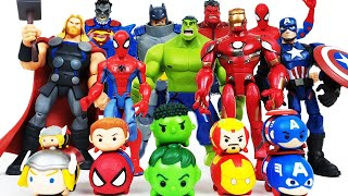 Avengers Transformation! Thor, Red Hulk, Iron Man, Spider-Man, Batman, Superman, Captain America