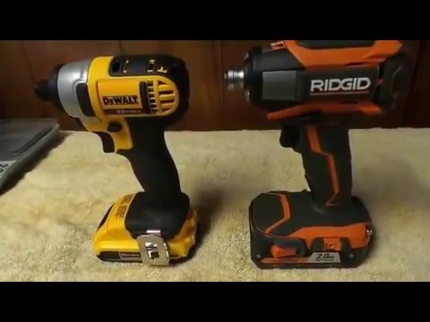 DEWALT (DCF885) vs. RIDGID (R86035) GEN5X IMPACT DRIVER LUG NUT CHALLENGE