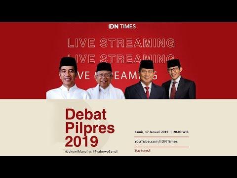 Image of Live! Debat Perdana Pilpres 2019; Joko Widodo (Jokowi )-Ma'ruf Amin vs Prabowo-Sandi