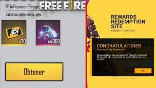 RECLAMA!! NUEVO CÓDIGO de FREE FIRE REGALOS EXCLUSIVOS CÓDIGOS ENERO 2021!! - YouTube