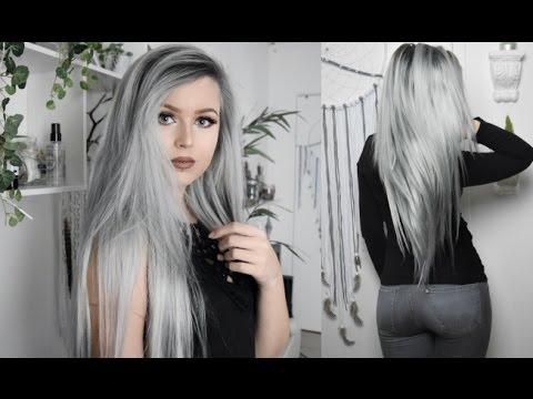 Gray-Silver with dark roots Hair Tutorial | VpFashion.com