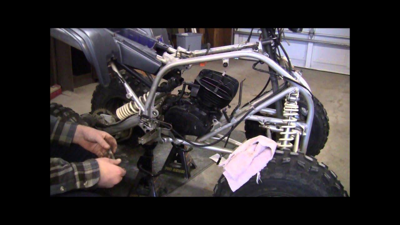 1988 2003 Yamaha Blaster Engine Install Youtube Ignition Wiring