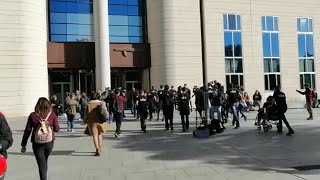 Concentración en apoyo a los investigados por la ocupación de Rozalejo