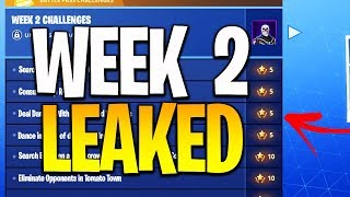 Fortnite Season 4 Week 2 Challenges LEAKED! Fortnite Battle Royale All Challenges Battle Pa