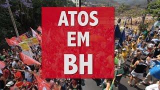 Atos pró-Aécio e pró-Dilma em BH