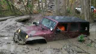 Sayre Starr Motors in Suffolk, Virginia Jeep JK in mud hole VA4WDA 3-24-2012